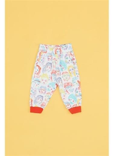 BG Baby Kız Bebek Desenli Eşofman Altı Renkli